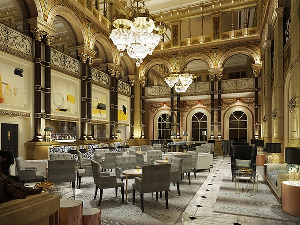 Richmond international commissioned to re design hilton for Hotel design original paris