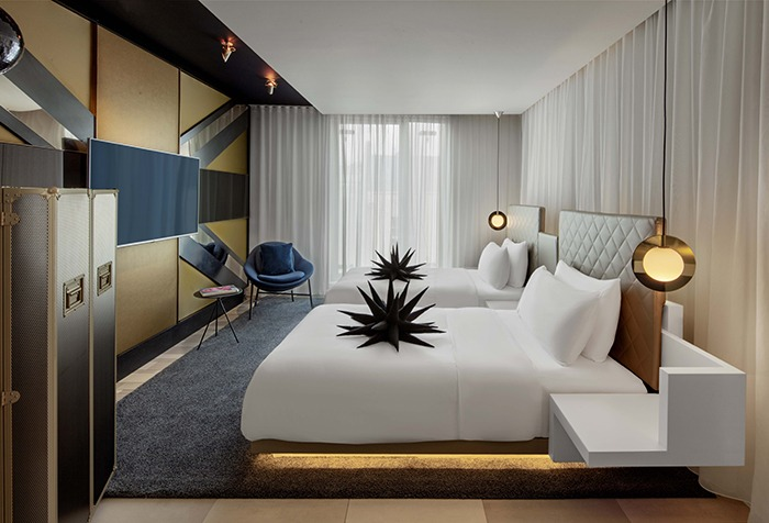 W London Unveils New Room Designs Sleeper,Types Of Window Coverings For French Doors