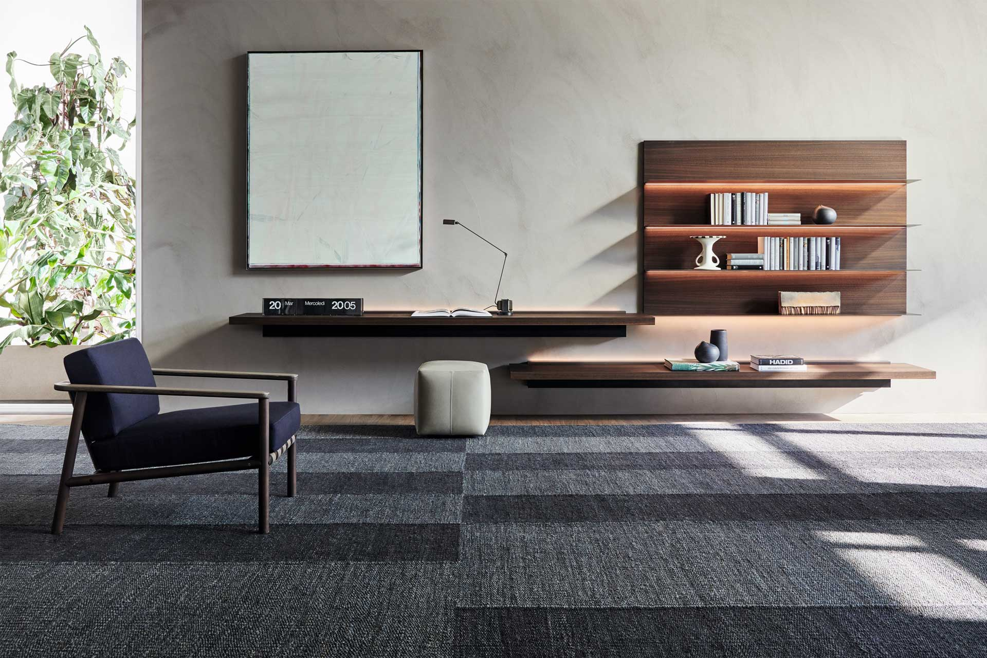 Gillis, one of Van Duysen's pieces for Molteni & C, is a low armchair designed specifically for the hospitality sector