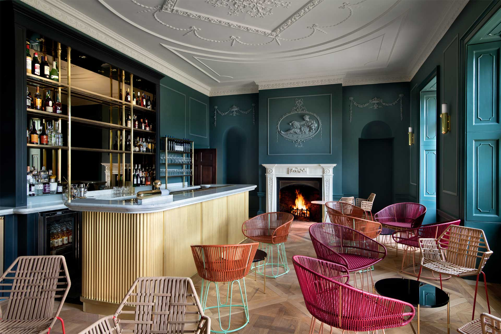 The bar at The Newt in Somerset, England