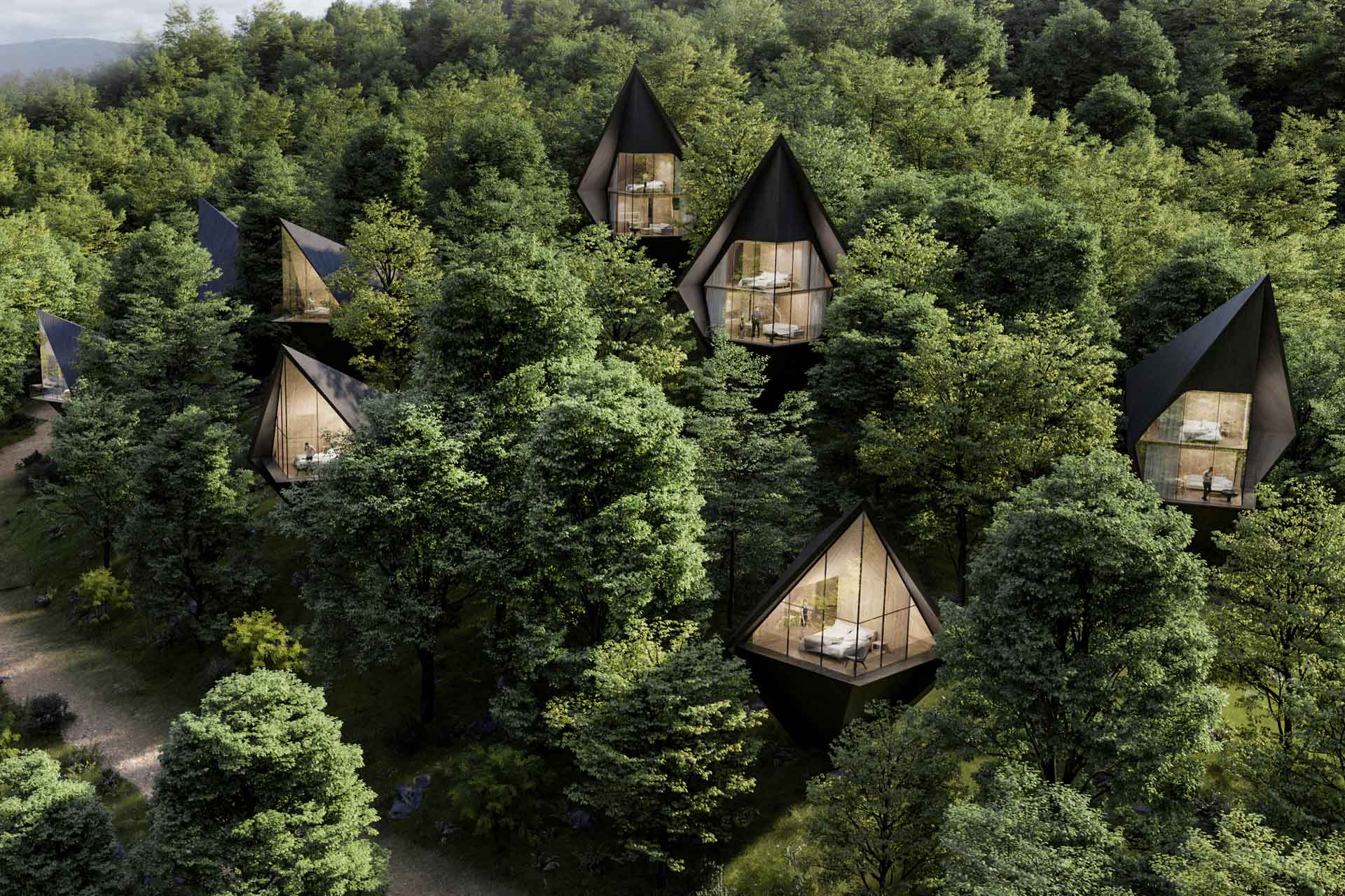Exterior of Peter Pichler's West Virginia Tree Houses