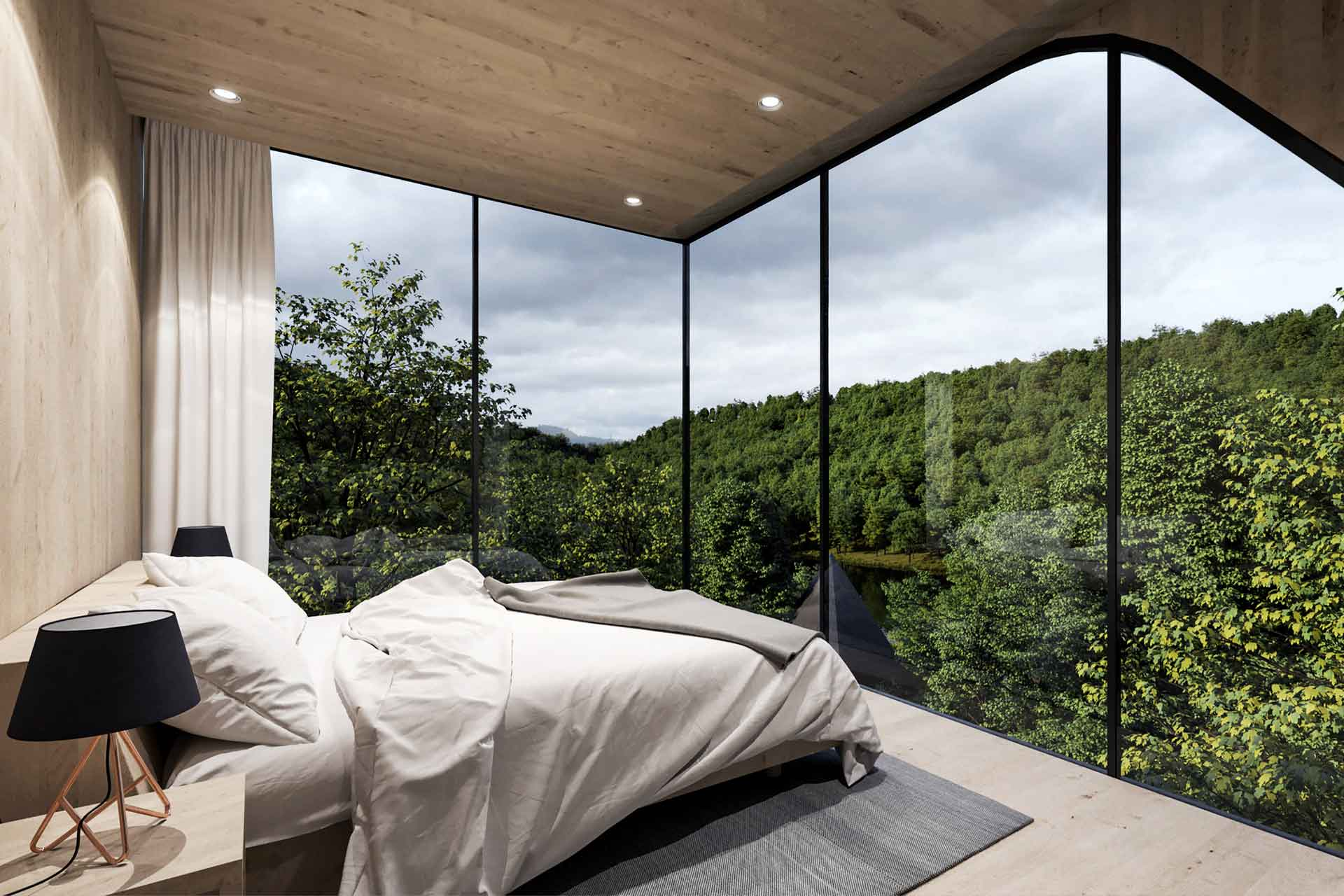 Interior space of Peter Pichler's Tree House