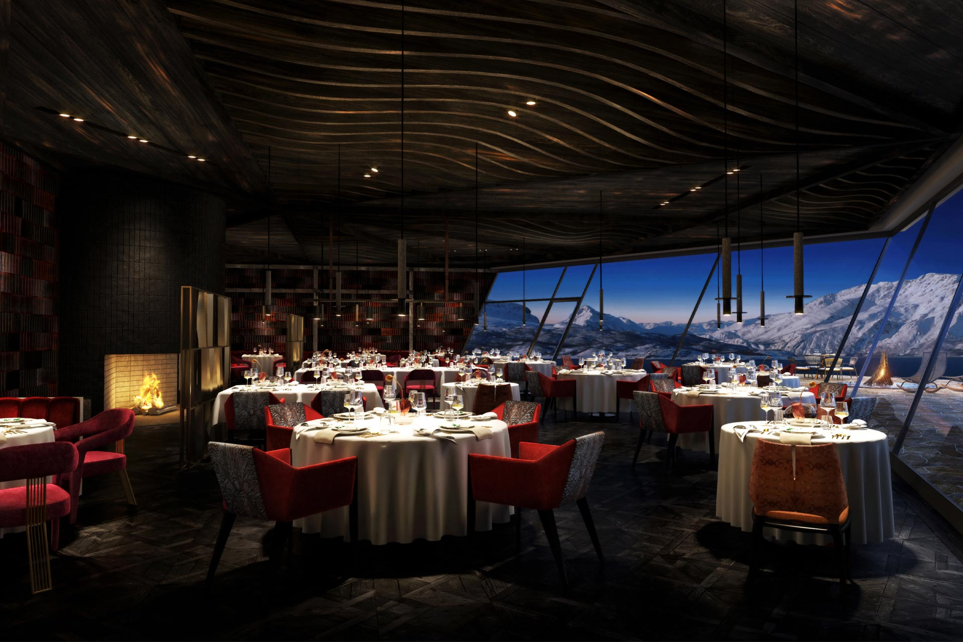 Michelin-star restaurant at a new Norwegian hotel designed by Bergman Interiors