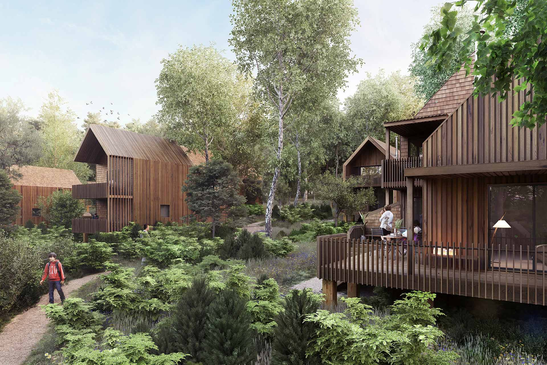 Upland Park Lodges in the South Downs National Park, UK