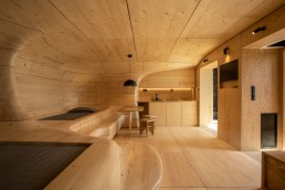 Wooden Cave suite at Hyades Mountain Resort in Greece