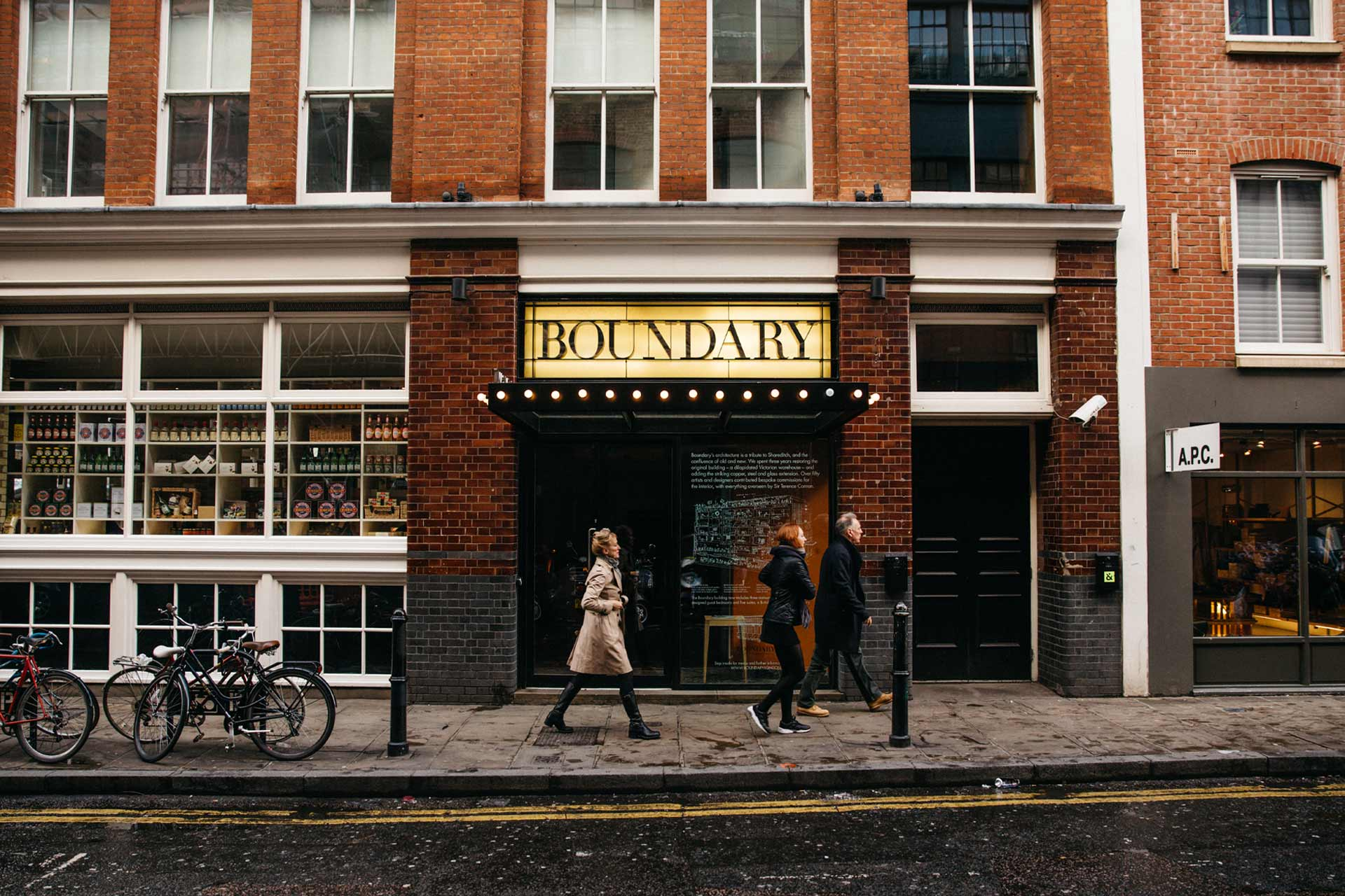 Boundary hotel in Shoreditch, London