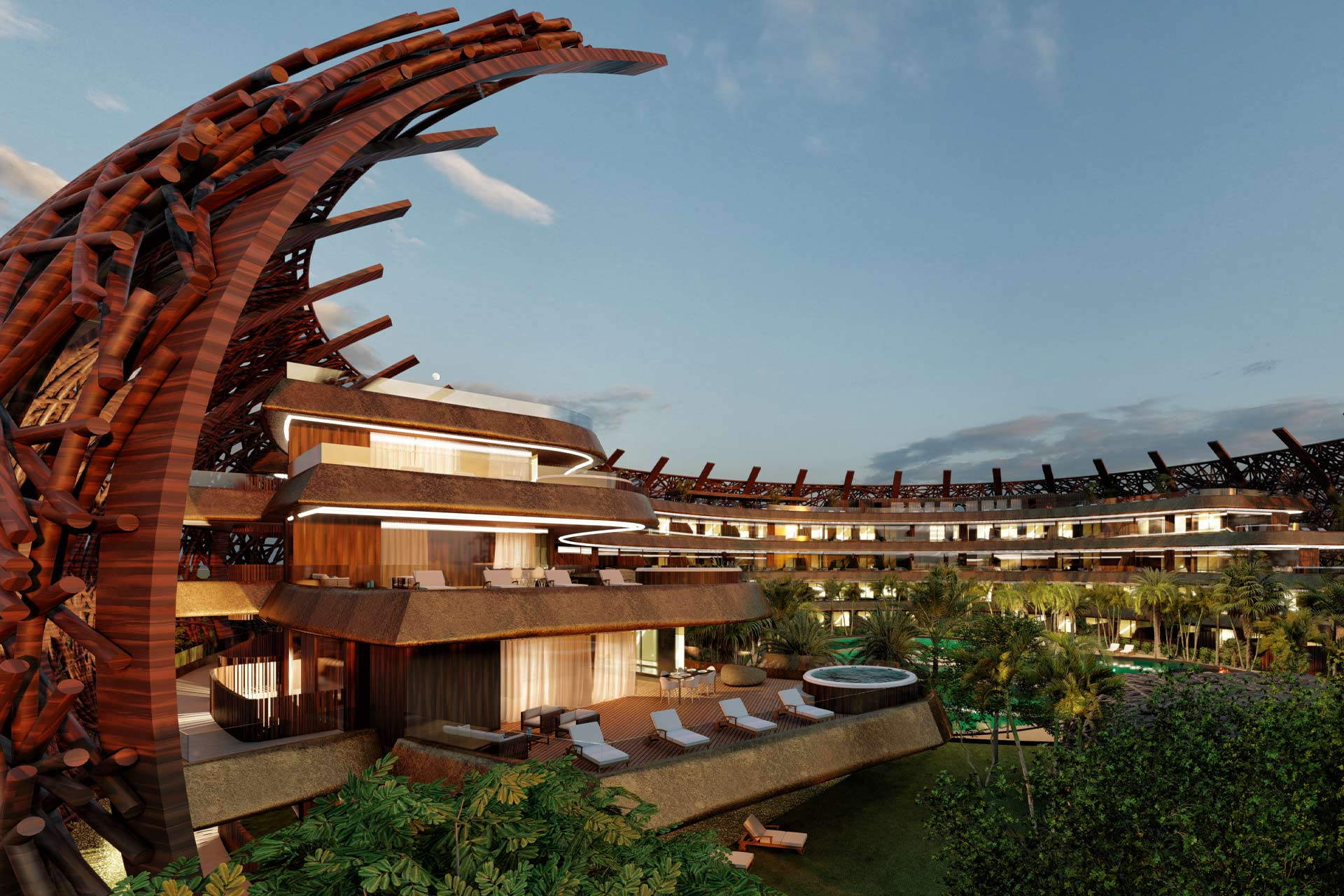 A rendering of Cocoon Hotel & Resort in Tulum, Mexico