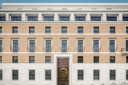 An exterior shot of Rosewood Hotel in Rome, Italy