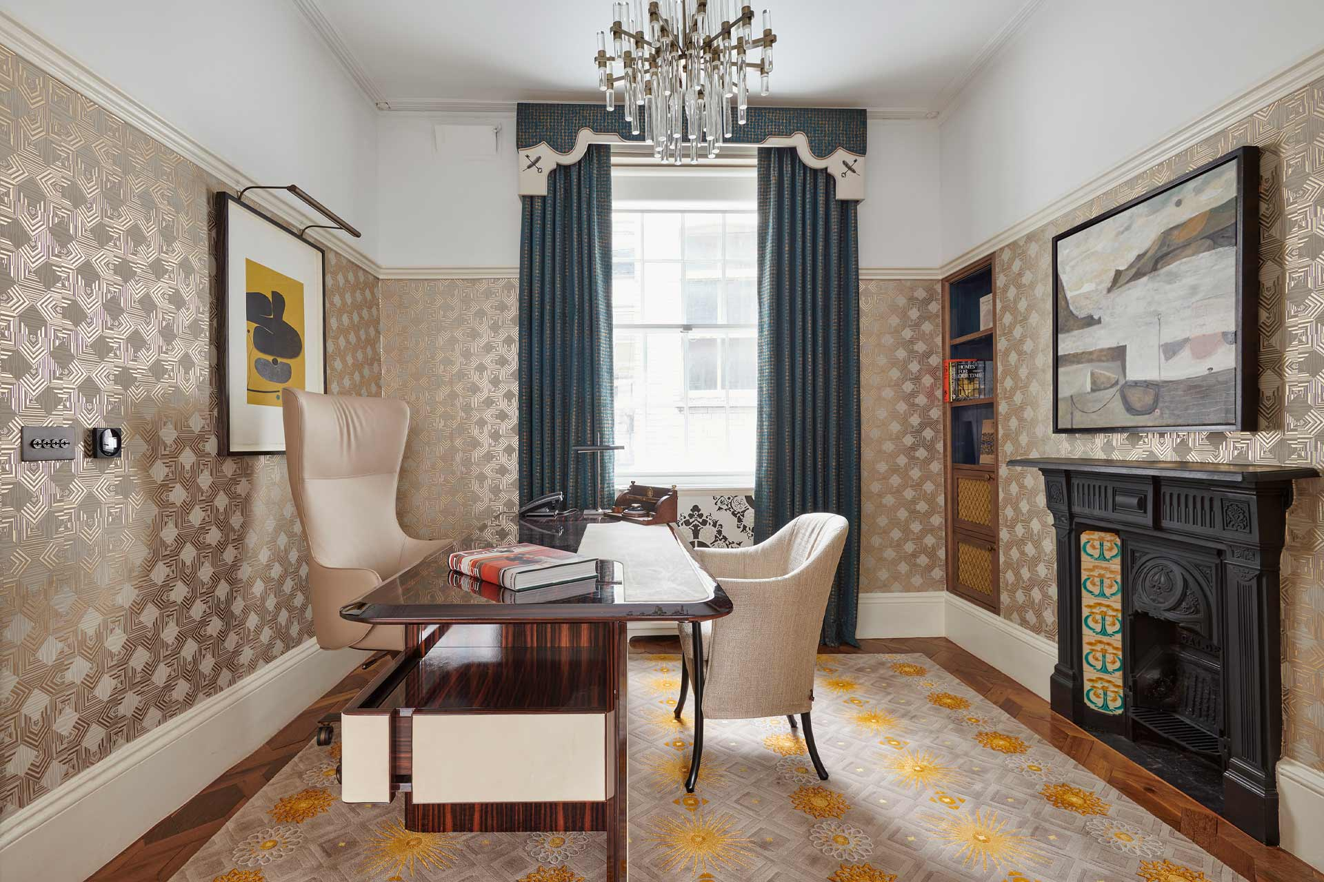 A study at Great Scotland Yard Hotel's No.1 The Townhouse in London