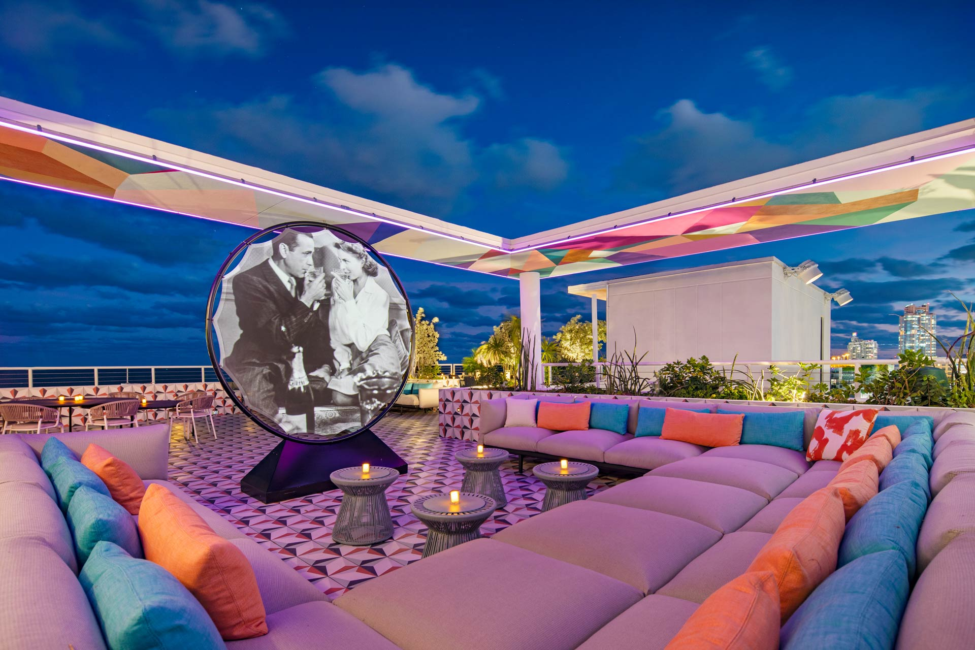 The Upside rooftop bar at Moxy Miami South Beach