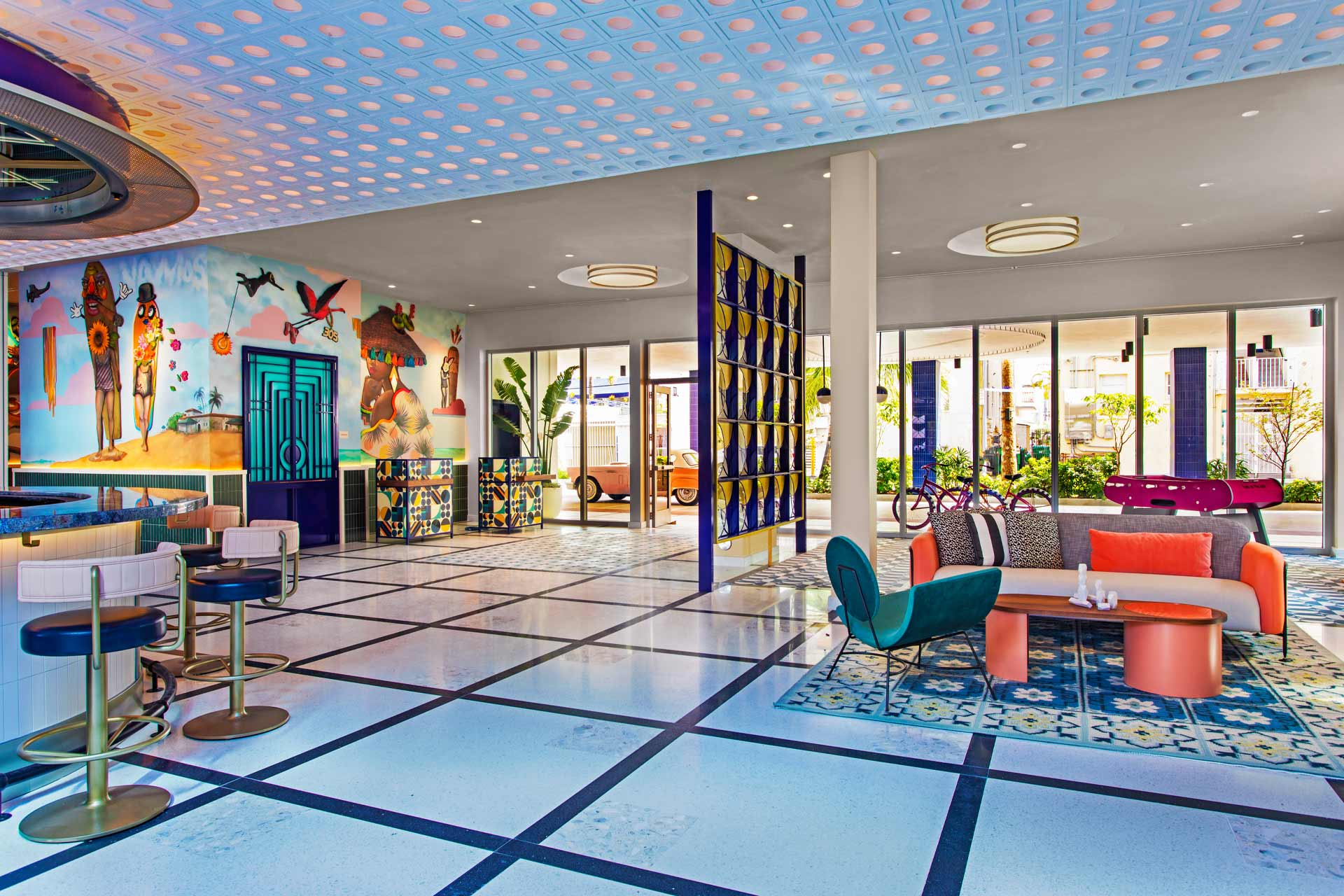 The ground floor at Moxy Miami South Beach