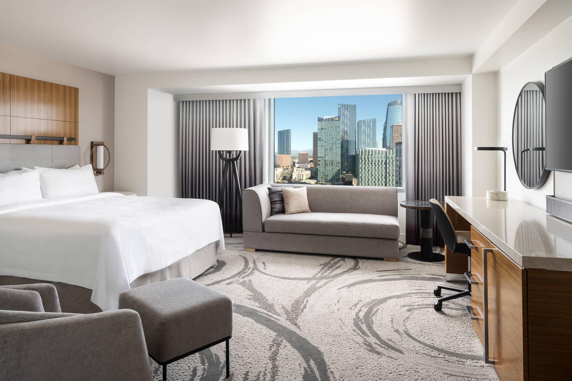 A guestroom at JW Marriott Los Angeles LA Live