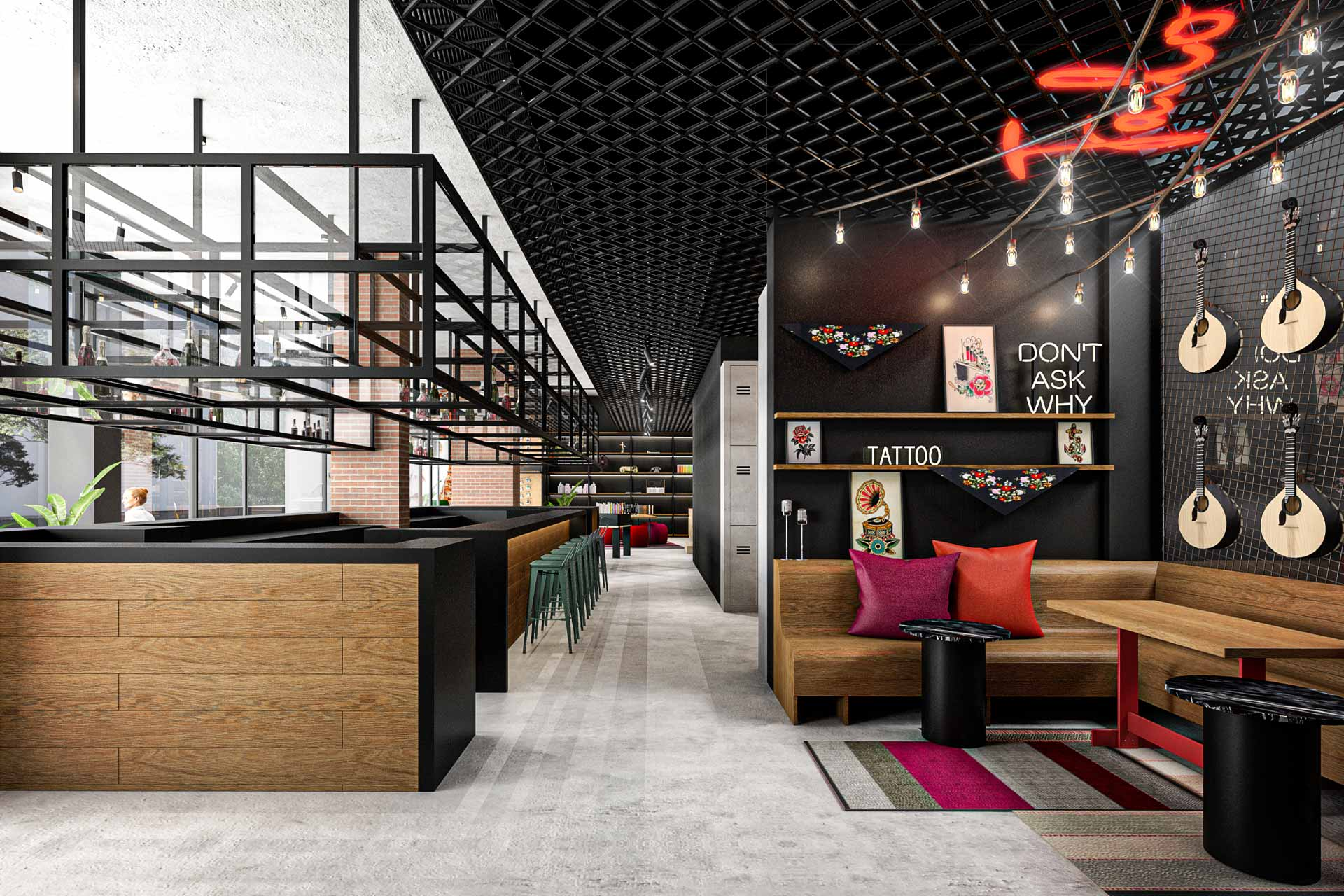 A rendering of Moxy Lisbon City in Portugal