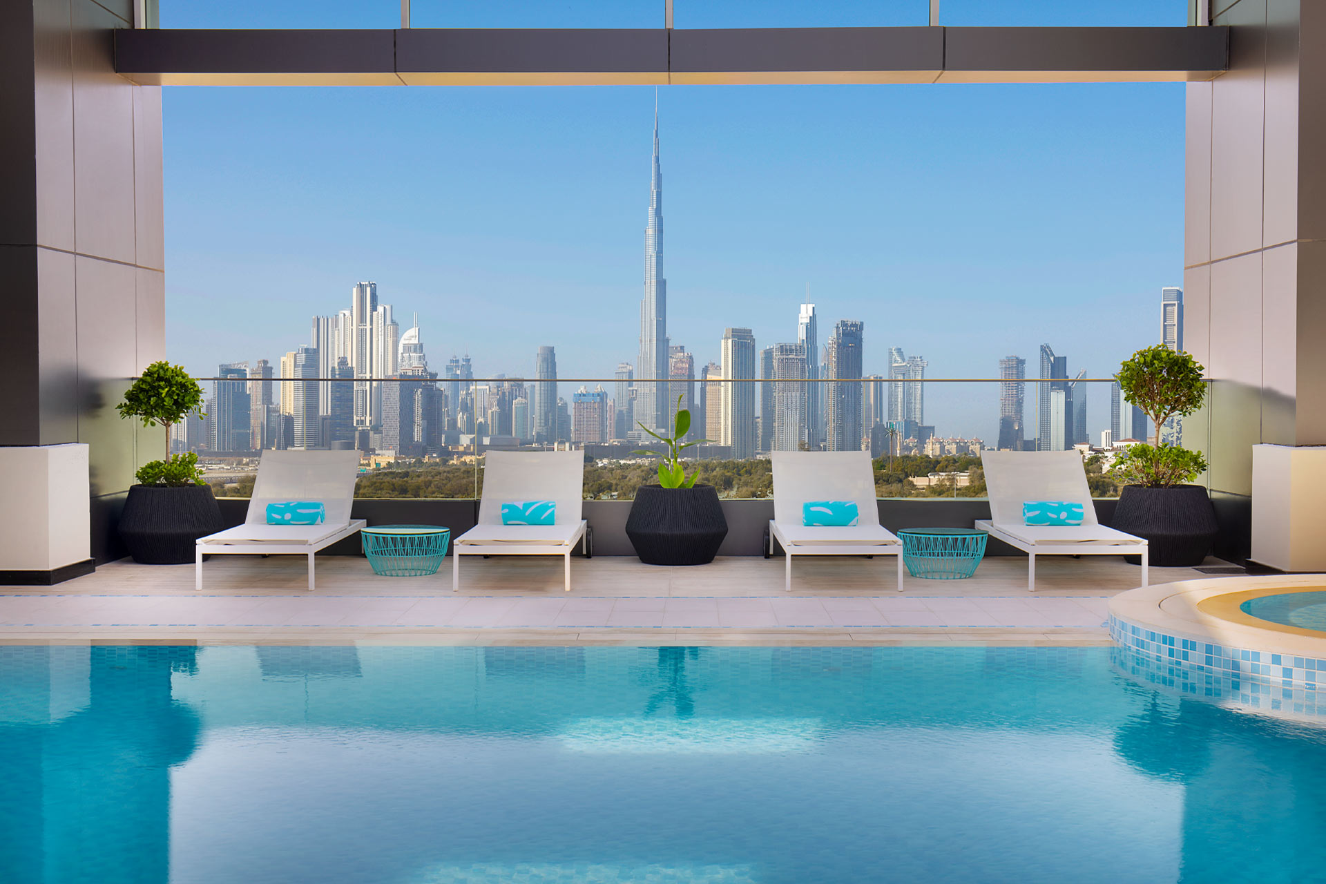 The pool at Residence Inn Al Jaddaf in Dubai