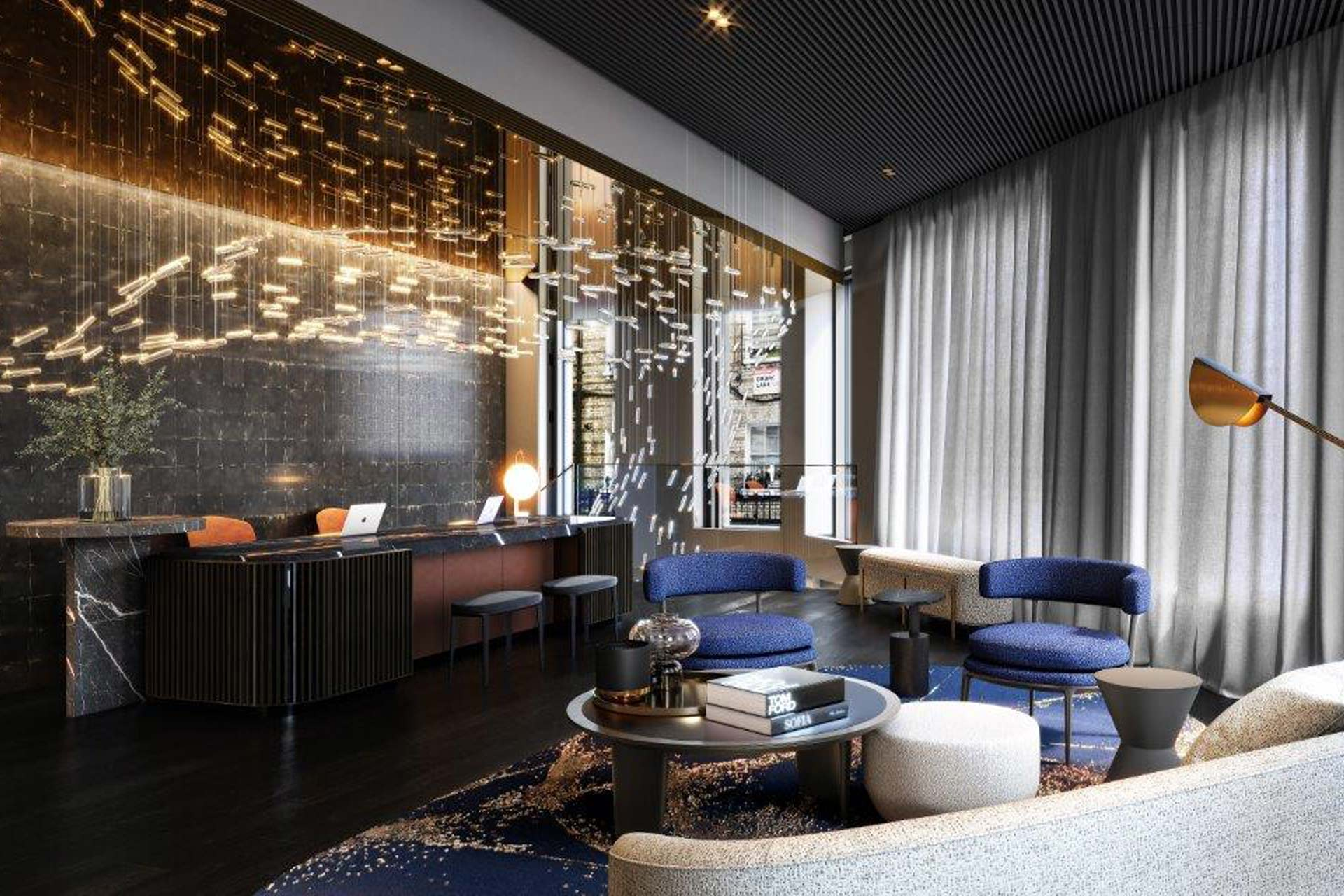 A rendering of Amano Hotel in Covent Garden, London