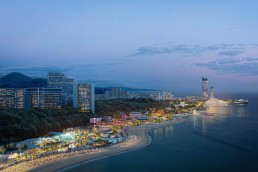 A rendering of UNStudio's concept for the Sochi Waterfront