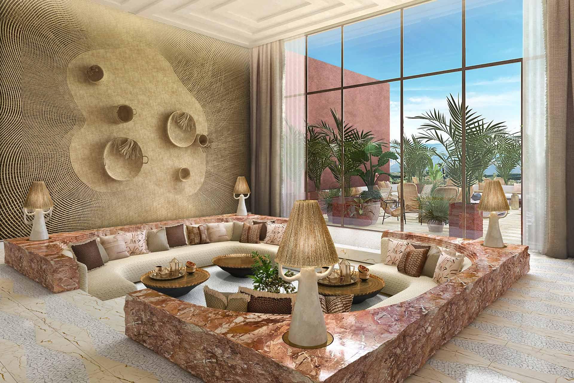 A rendering of St Regis Marrakech in Morocco