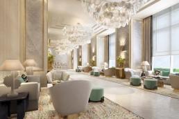 A rendering of Waldorf Astoria Doha in Qatar